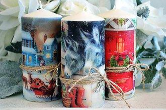 Svietidlá a sviečky - Vianočné vintage trio - 5991728_