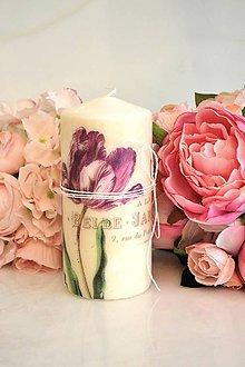 Svietidlá a sviečky - Vintage sviečka - 5991863_