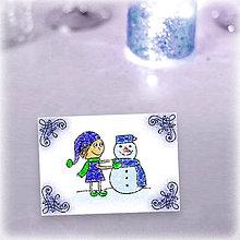 Papiernictvo - Vianočný pajác - vianočná pohľadnica (2) - 5992245_