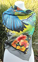 Hodvábna šatka - Rybárik z hodvábu