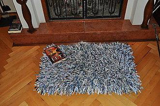 Úžitkový textil - Strapatý koberec modrý - 6000549_