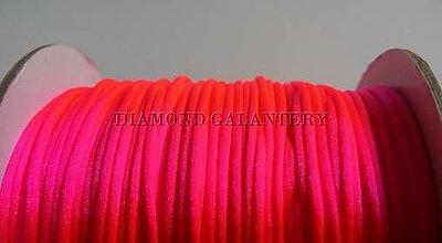 Galantéria - Shamballa šnúrka saténová 1,5 mm -neónovo ružová - 5997380_