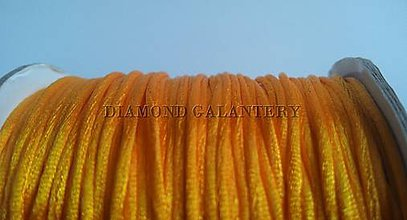 Galantéria - Shamballa šnúrka saténová 1,5 mm - žltooranžová - 5997402_
