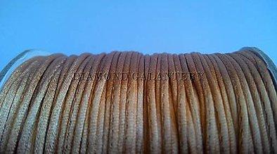 Galantéria - Shamballa šnúrka saténová 1,5 mm - zlatá - 5997404_