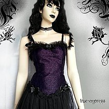 Topy - Letný fialovo-čierny top - 5996220_