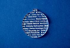 Dekorácie - Ľadová vianočná guľa - 5999181_