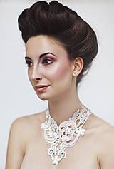 """Náhrdelníky - biely náhrdelník white dream - """"čas čipky"""" - 6000103_"""