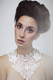 Náhrdelníky - biely náhrdelník white dream -