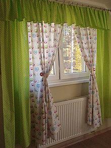 Úžitkový textil - Sovičkové závesy. - 5997083_