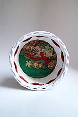 Košíky - Košík papierový - Vianoce I - 6001107_