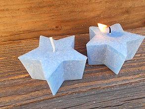 Svietidlá a sviečky - hviezdička z palmového vosku / modrá - 5998204_