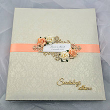 Papiernictvo - Svadobný samolepiaci fotoalbum - 5999342_