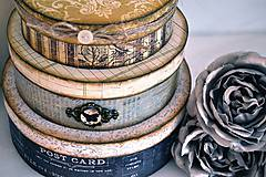 Krabičky - Sada 3 vintage krabičiek - 5996483_