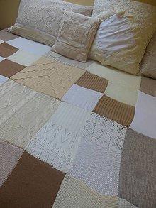 Úžitkový textil - Béžová prikrývka na posteľ - 5998778_