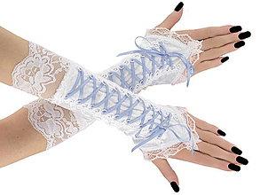 Rukavice - Svadobné bielé rukavičky pre nevestu 1075F - 6006456_