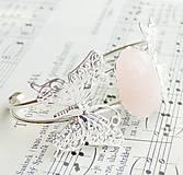 Rose Quartz & Butterfly