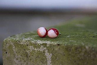 Náušnice - Micro red - 6006028_