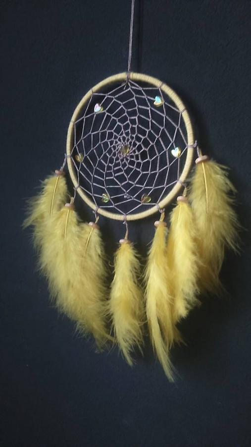7f525fc30b19b Lapač snov žlté srdce / Envy - SAShE.sk - Handmade Dekorácie