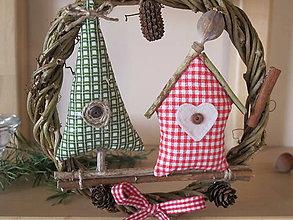 Dekorácie - Vianočný venček s makovičkou - 6001521_