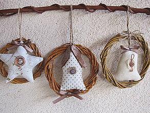 Dekorácie - Vianočné venčeky v malom... - 6001529_