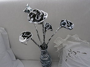 Dekorácie - Váza pred nevestu a ženícha. - 6005052_