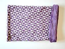 Šály - nákrčník ovečka fialový so srdiečkami - 6004900_