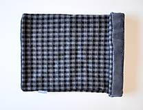 - nákrčník ovečka čierno-šedá kocka II - 6005024_