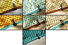 Detské súpravy - zimný set minky  ivory&brown - 6006252_