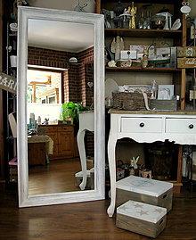 Zrkadlá - Biele veľké patinované zrkadlo - predané - 6003702_
