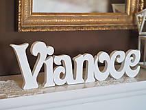 Dekorácie - Nápis VIANOCE - 6005351_