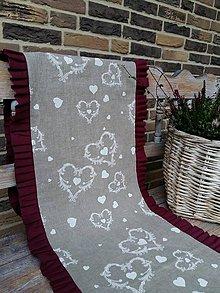 Úžitkový textil - Ľanová štóla Christmas Dream - 6003754_