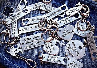 Kľúčenky - 2mm hrúbka / cena za 1ks + skoba - 6010663_