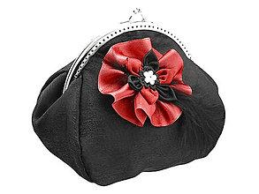 Taštičky - Dámska kabelka čierná, spoločenská kabelka  0800B - 6009625_