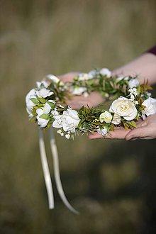 Ozdoby do vlasov - venček by michelle flowers - 6007906_