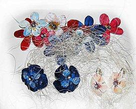 Náušnice - leloušky kvetinkové - 6009201_