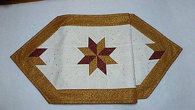 Úžitkový textil - vianočný zlatý - 6010236_