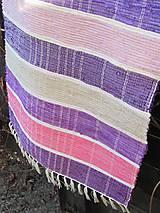 koberec tkaný fialovo-ružový 0,7 x 1,7m