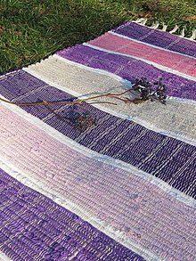 Úžitkový textil - koberec tkaný fialovo-ružový 0,7 x 1,7m - 6010020_