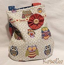 Detské tašky - Taška pre deti - Sovičková v zelenom (1) - 6009806_