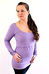 Tehotenské/Na dojčenie - Dojčiace tričko 3v1 dlhý rukáv - 6010984_