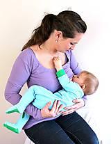 Tehotenské/Na dojčenie - Dojčiace tričko 3v1 dlhý rukáv - 6010987_