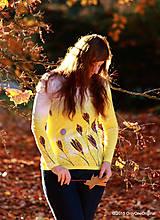 Tričká - Dámske tričko batikované a maľované ŠAFRÁNIK - 6009670_