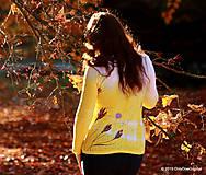 Tričká - Dámske tričko batikované a maľované ŠAFRÁNIK - 6009680_