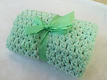 Textil - detská zimná deka zelená - 6009055_