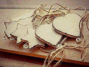 Dekorácie - Vianočná sada v bielom - 6009691_