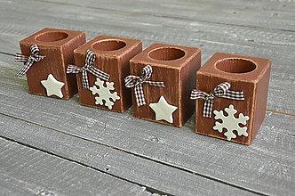 Svietidlá a sviečky - adventný/vianočný svietnik - 6009272_