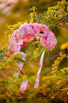Ozdoby do vlasov - Ružová parta by Hogo Fogo - 6007196_