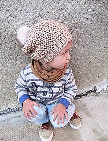 Detské čiapky - S brmbolcom... - 6008542_