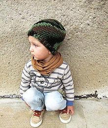 Detské čiapky - Maskáčová...SKLADOM - 6010648_