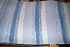 Úžitkový textil - Tkaný koberec modro ladený - 6010481_